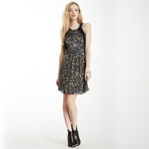 Rebecca Taylor Sequin Print Colorblock Dress SZ 4